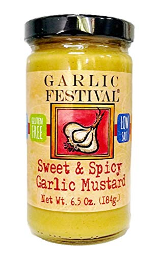 Garlic Festival Foods Sweet and Spicy Garlic Mustard 6.5 oz. (184g)