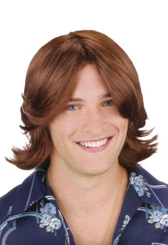Fun World Men's Ladies Man Brown Wig,