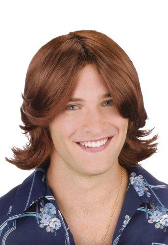 (Fun World Men's Ladies Man Brown Wig,)