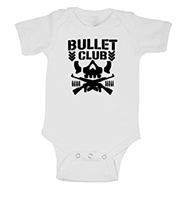 Squared Circle Bullet Club Skull Logo WWE Childrens Bodysuit
