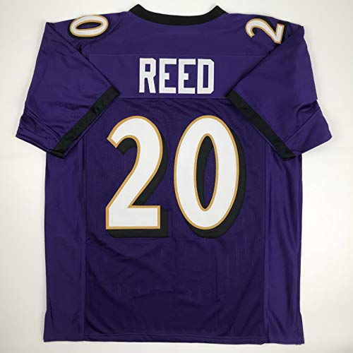 Unsigned Ed Reed Baltimore Purple Custom Stitched Football Jersey Size Men's XL New No - Reed Ed Jersey