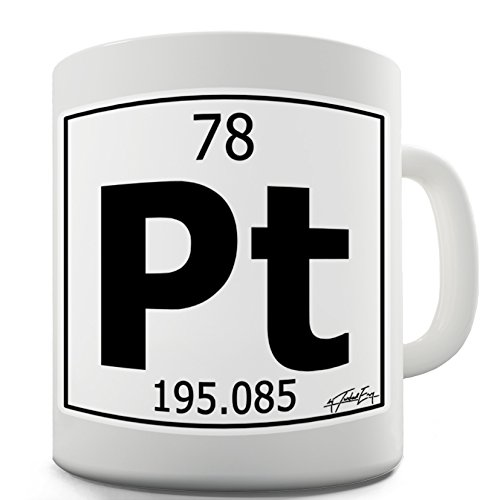 Twisted Envy Periodic Table Of Elements Pt Platinum Ceramic Funny Mug