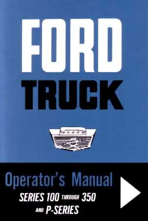 1963 FORD F & P Series TRUCK Owners Manual User Guide