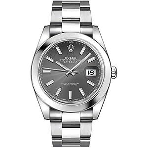 Best Epic Trends 4170Az5j7ZL._SS300_ Men's Rolex Datejust 41 Dark Rhodium Dial Oystersteel Watch (ref. 126300)