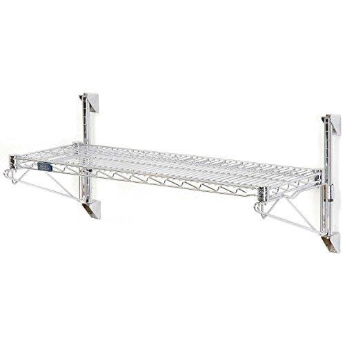 Nexel Wall Mount Wire 1-Shelf Starter Unit, 30''W x 24''D x 14''H by Nexel