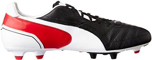 Puma Momentta FG 102676 Herren Fußballschuhe Schwarz (black-white-ribbon red 02)