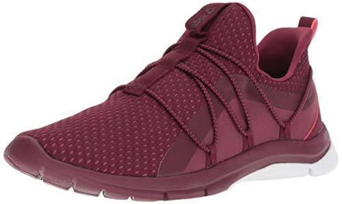 Reebok Women's Print Her 3.0 Lace Running Shoe, Rustic Wine/Twisted Berry, 8 M US