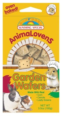 "ANIMALOVENS GARDEN WAFERS 3.5 OZ ""Ctg: SMALL ANIMAL PRODUCTS - SMALL ANIMAL - CHEWS & TREATS"""
