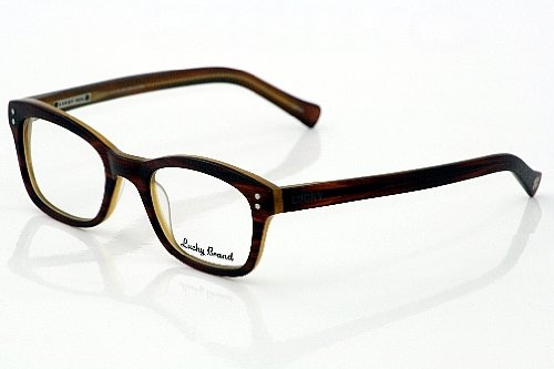 Lucky Brand Andy Eyeglasses Matte Brown Horn Optical Frame: Amazon ...