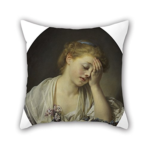 Pittsburgh Steelers Fuzzy Dice (Alphadecor 16 X 16 Inches / 40 By 40 Cm Oil Painting Jean-Baptiste Greuze - A Girl With A Dead Canary Pillowcase,both Sides Is Fit For Father,floor,wife,christmas,boys,dinning Room)