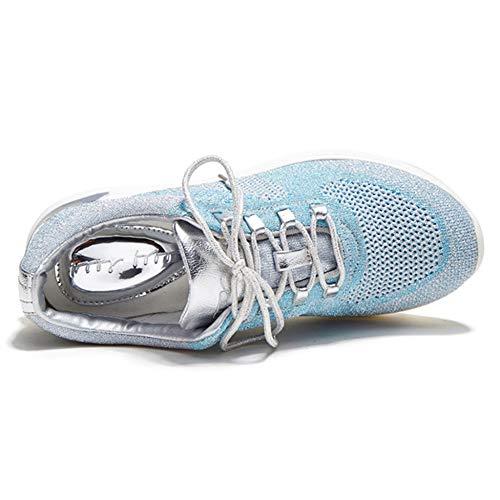 Trainers Correr Libre Senderismo Gym Mujer Deporte YR De Damas Caminando Flyknit De Para Al R Zapatillas Black Para Aire Mesh Planas Cordones Con Zapatillas w47UqSRB7n