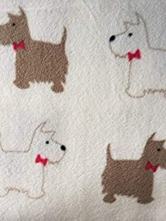 TERRIER BEIGE Double Sided Super Soft Cuddle Fleece Fabric Material