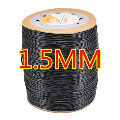 FINCOS Transparent White 0.5/0.6/0.7/0.8/1.0/1.5mm Crystal Elastic Beading Cord Thread DIY Necklace Bracelet Jewellery - (Color: 1.5mm Black) by FINCOS (Image #7)