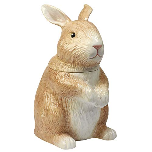 "Certified International Bunny Patch  3-D Cookie Jar - Bunny 10.75"",One Size, Multicolored"