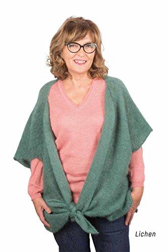 Chaqueta de lana de Angora mohair Perla