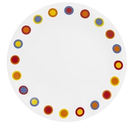 Corelle Livingware 8-1/2-Inch Luncheon Plate Hot Dots  sc 1 st  Amazon.com & Amazon.com | Corelle Livingware 8-1/2-Inch Luncheon Plate Hot Dots ...