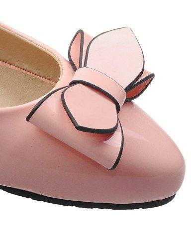 plano punta 5 PDX uk7 blanco redonda 5 casual carrera oficina cn42 zapatos pink charol 8 de y mujer 10 eu41 negro vestido Flats de rosa verde us9 talón YAYr0xw