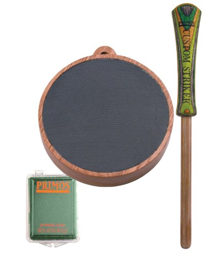 Primos Jackpot Turkey Pot Call with Conditioning Kit (Red Deer Blinds)