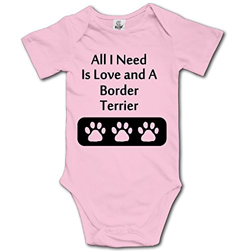 Baby Climbing Clothes Set Border Terrier Bodysuits Romper Short Sleeved Light Onesies]()