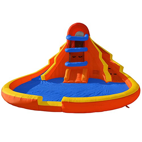 Cloud 9 Climb 'n' Slide - Inflatable Outdoor Water Slide & Climbing Wall without Blower