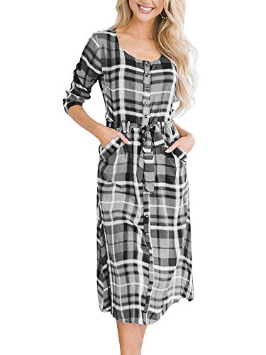 Sleeve Belted Shirt Dress - 2