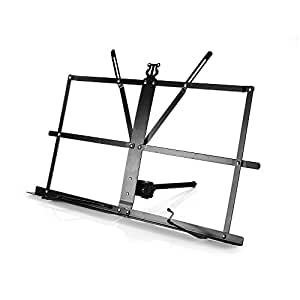 Ligh twish - Negro metal hojas - Portable de marcar Music Soporte Folding plegable