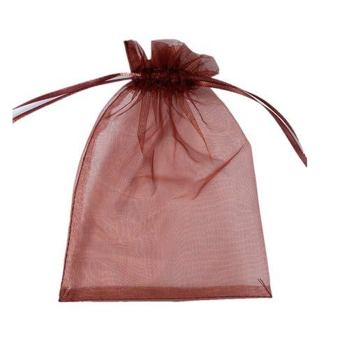 100pcs Bolsas de Organza de Regalo para Joyas Caramelo Dulces Recuerdo Favores Detalles Boda Favores y Joyas Bolsas Bolsitas de Organza de Boda para Regalo