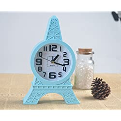 Modern Bedside Quart Alarm Clock Simple Eiffel Tower for Kid Decor Your Home