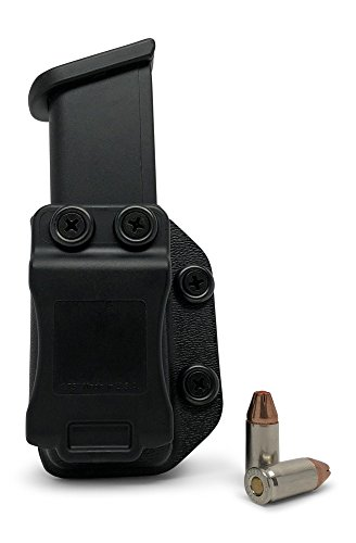 Concealment Express Single IWB/OWB KYDEX Magazine Holster/Mag Carrier: fits Glock 9mm/40/357 - Ambidextrous - Concealed Carry - Adj. Retention - US Made (Best Owb Holster For Glock 19 Concealed Carry)