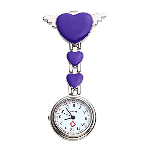 Top Plaza Brooch Hanging Watch Purple