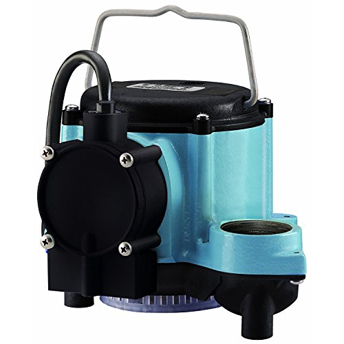 Little Giant GIDDS-521252 12393 1/3 HP Automatic Sump Pump, 2760 GPH, Blue ()