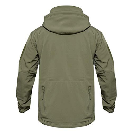 Veste Softshell Tactique Hommes d'hiver Camouflage armée Combat Veste à Capuche Airsoft Vestes Militaires Randonnée 3