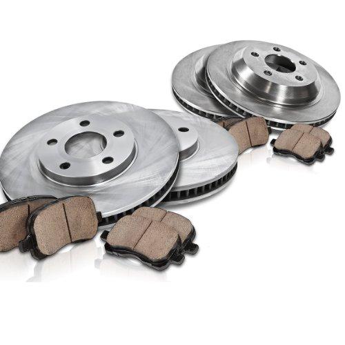 [ 4WD ] FRONT 6 Lug 329.5 mm + REAR 6 Lug 348 mm Premium OE [4] Rotors + [8] Quiet Low Dust Ceramic Pads Kit CK002370