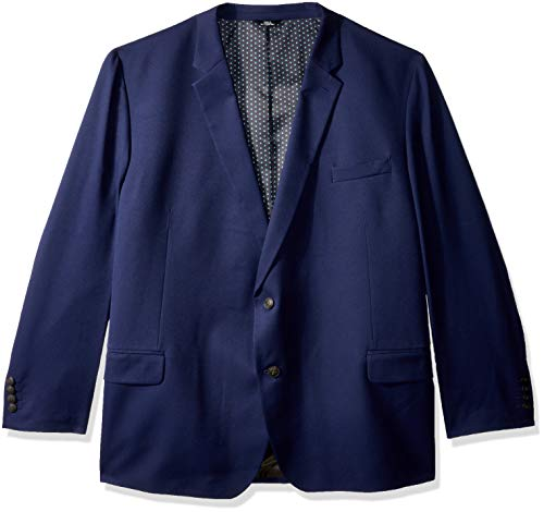 Haggar Men's Big and Tall B&T Active Series Stretch Classic Fit Suit Separate Coat, Midnight, 54L