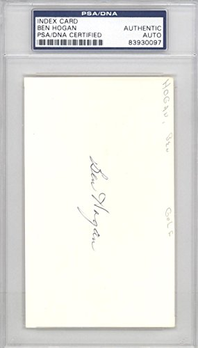 Ben Hogan Authentic Autographed Signed 3x5 Index Card #83930097 PSA/DNA Certified Golf Cut Signatures