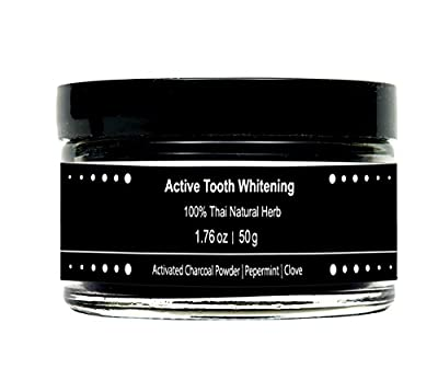 100% Activated Tooth Whitening Charcoal Bamboo Black Natural Herb Teeth Powder Pepermint Clove Clean Halal healthy Toothpaste 50g 1.76 oz