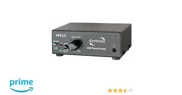 Dynavox UPR-2.0 USB - Preamplificador para tocadiscos con puerto USB, color negro