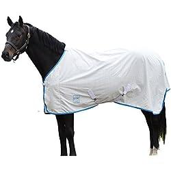 Kool Coat Lite Standard Neck Fly Sheet White/Blue 81