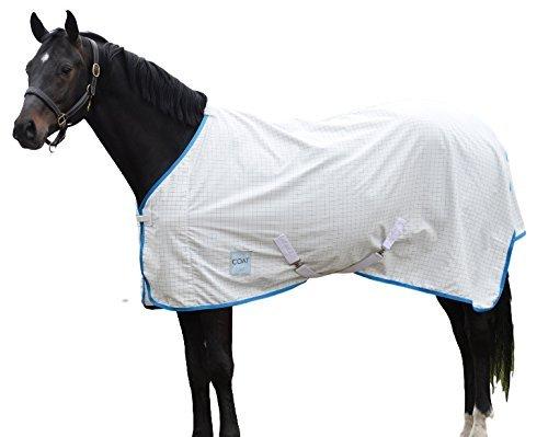 Kool Coat Lite Standard Neck Fly Sheet White/Blue ()