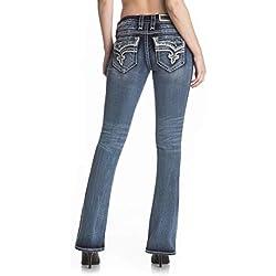 Rock Revival Betty B265 Medium Wash Boot Cut Jeans Fluer De Lis RP9162B265