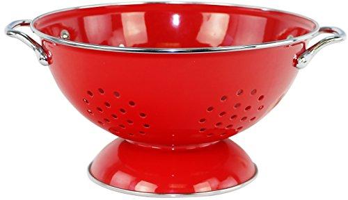 (Calypso Basics by Reston Lloyd Powder Coated Enameled Colander, 3 Quart, Red )