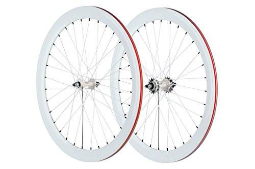 Pure Fix 700C 40mm Wheelset, White (Single Speed Flip Flop Hub)