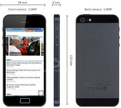 4.0 pulgadas i5 Android 4.1 Smartphone MTK6517 Dual Core de 1 GHz de doble cámara WiFi 4GB (Negro): Amazon.es: Electrónica
