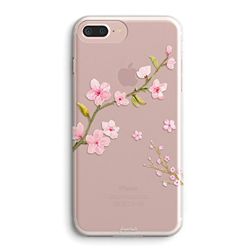 - iPhone 8 Case,iPhone 7 Case,Girls Summer Sakura Flowers Girly Pink Cute Cherry Blossom Rose Florals Japanese Daisy Collection Exotic Spring Clear Protective Case for Girls for iPhone 7/iPhone 8