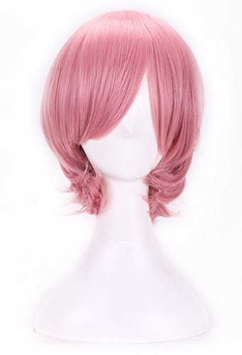 AneShe Short Straight Hair Cosplay Costume Wig Party Wig (Pink) by AneShe