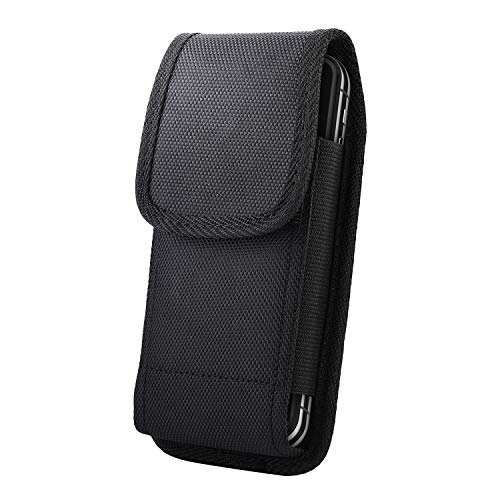 Belt Clip Holster Compatible for iPhone Xs,miadore Heavy Duty Nylon Vertical Pouch Case Phone Holder Cover [ D Ring Hook ] with [ Secure Loops] for iPhone X, XS (Fit with a Thin Case) ()
