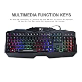 Rii Gaming Keyboard and Mouse Combo,LED Rainbow