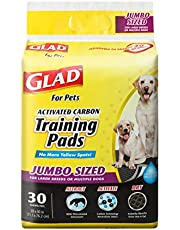 Glad for Pets Jumbo-Size Charcoal Puppy Pads   Black Training Pads That Absorb & Neutralize Urine Instantly   New & Improved Quality, 30 Count