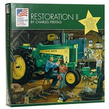 Great American Puzzle Factory John Deere Restoration II 1000 Piece Jigsaw Puzzle