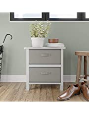 Edenbrook 2 Drawer Storage Chest - Organizer for Hallways, Closets, Playrooms, Bathrooms, Entryways, White/Stone